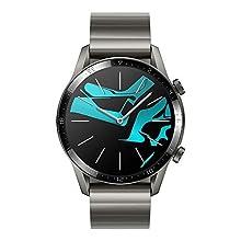 HUAWEI Watch GT 2 Smartwatch 46 mm, Durata Batteria fino a 2 Settimane, GPS, 15 Modalità di Allenamento, Display del Quadrante in Vetro 3D, Chiamata Tramite Bluetooth, Titanium Gray