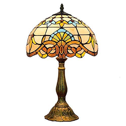 Light-XGM Ø30cm Tiffany Vintage Style Tischlampe Nachttischlampe europäischen Barockstil Studio Studie Restaurant dekorative Tischleuchte, 110-220V, E27