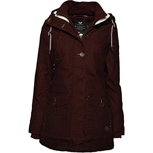 Ragwear Damen Mantel Wintermantel Winterparka YM-Jane (vegan hergestellt) Choco Gr. M