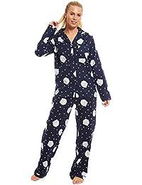 e622cdb9a4b2f Winceyette Pyjamas Ladies Wincy 100% Brushed Cotton Blue PJs Size 10 12 14  16 18