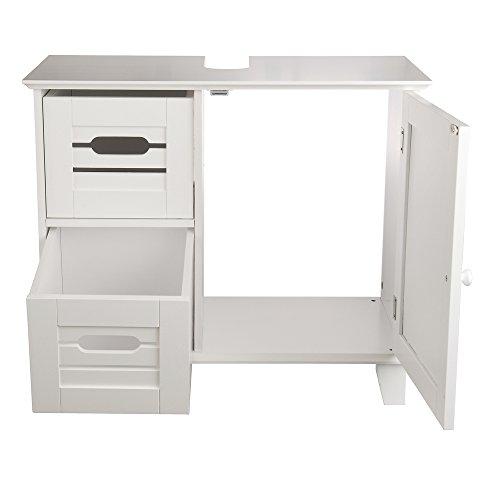 "ᐅ Waschtischunterschrank ""Florian"", Holz, Weiß - 33 x 65 x 55 cm ... | {Waschtischunterschrank holz weiß 68}"