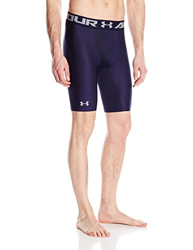Under Armour HG 2.0 Long Short Pantalones Cortos Deportivos, Hombre, Azul (Midnight Navy), XXL