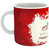 Happy New Year And Merry Christmas Ceramic Coffee Mug With Free Greeting Card For Friends,Girlfriend,Boyfriend & Gift,family With Glossy Finish Vibrant Print