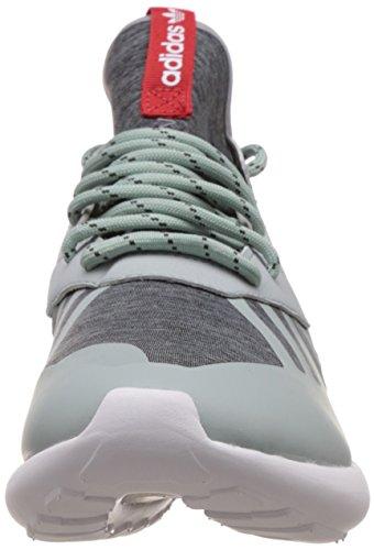 adidas Tubular Runner Weave, Chaussures de Sport Homme Gris - Grau (Mist Slate F15-St/Tomato F15-St/Ftwr White)