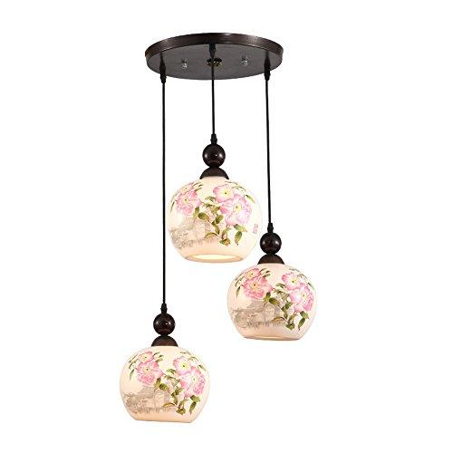 BRIGHTLLT Neuen Chinesischen 3 Kopf Abendessen Deckenleuchte Treppe bar antike Lampen Retro kunst Schlafzimmer Leichte klassische keramische Lampe -