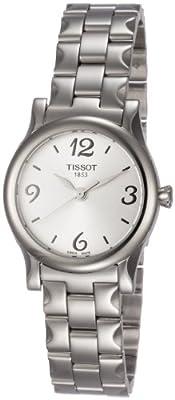 Tissot STYLIS-T T0282101103700 de cuarzo, correa de acero inoxidable color plata