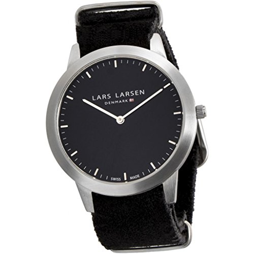 Lars Larsen LW35 Women's Quartz Watch with Black Dial Analogue Display and Black Stainless Steel Strap 135SBBZ