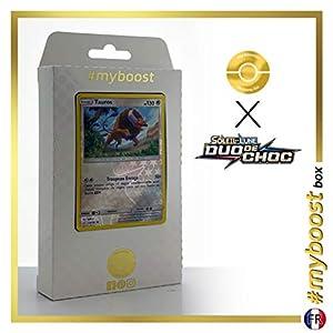 Tauros 129/181 Holo Reverse - #myboost X Soleil & Lune 9 Duo de Choc - Box de 10 Cartas Pokémon Francés