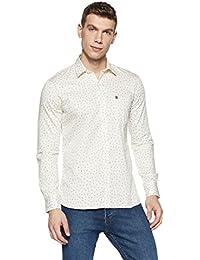 Duke Men's Printed Slim Fit Casual Shirt