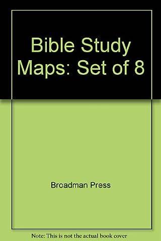 Bible Study Maps: Set of 8