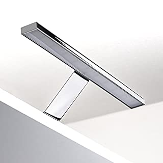 LED Furniture Luminaire ALEGRA warm white (3000 Kelvin) chromed - Energy Efficiency Class A+ - LxHxD: 304 x 62,0 x 97,0 mm - 12 V/DC / 5 Watt / 350 Lumen - Cabinet Lamp Mirror Light from SO-TECH®
