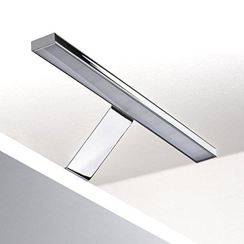 LED Möbelleuchte ALEGRA warmweiß (3000 Kelvin) verchromt - Energieeffizienzklasse A+ - LxHxT: 304 x 62,0 x 97,0 mm - 12 V/DC / 5 Watt / 350 Lumen - Schrankleuchte Spiegelleuchte von SO-TECH®