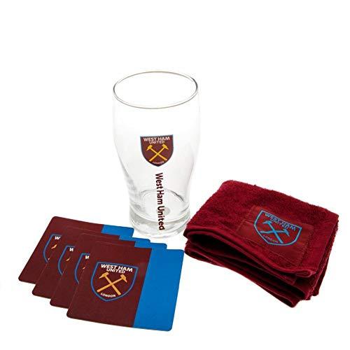 West Ham United FC Offizielles Mini-Bar-Set - violett - Einheitsgröße Drinkware Fan-set
