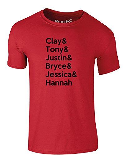 Brand88 - 13 Reasons Cast, Erwachsene Gedrucktes T-Shirt Rote/Schwarz