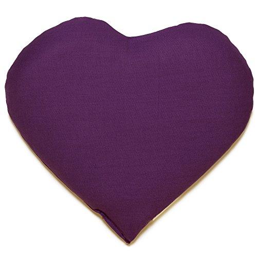 Kirschkernkissen Herz | ca. 30x25cm lila | Wärmekissen | Körnerkissen | Ein charmantes Geschenk