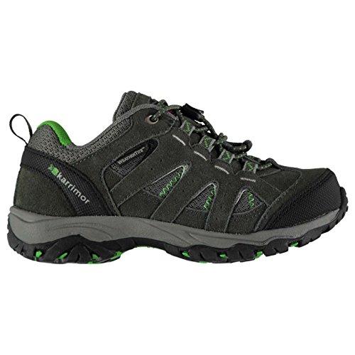 Karrimor enfant Mount Chaussures de Marche Basses Randonnée Charcoal/Vert 32