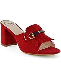 Zapatos rojos de punta abierta formales infantiles