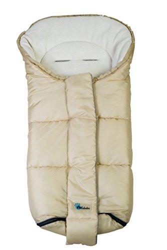 Altabebe al2277-08 nordic sacco termico invernale per passeggino, beige/bianco, 12-36 mesi