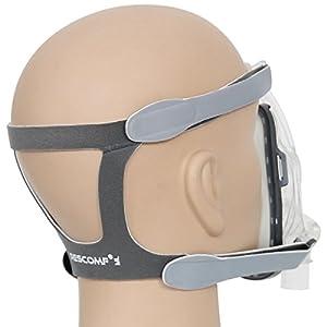 Universal Headgear für CPAP Nasenmaske, RESCOMF Headgear Ersatz Fit ResMed Respironics – keine Lecks, gute Elastizität, mittlere/große Größe