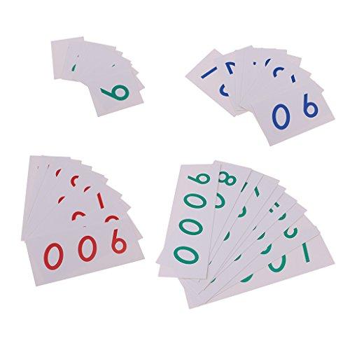 Math 1 9000 Anzahl Lernen Papierkarten Für Vorschule Lehrmittel ()