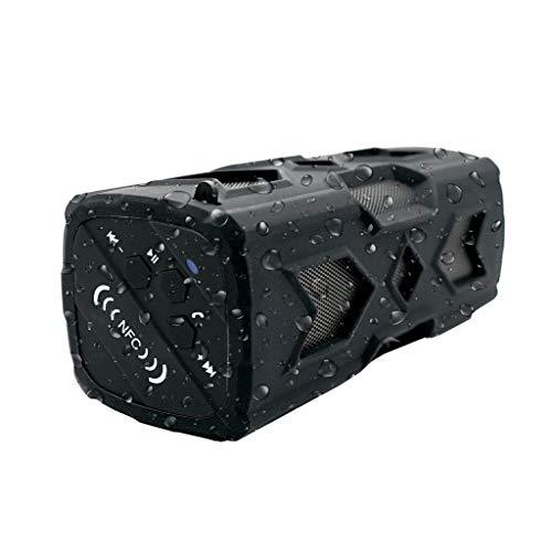 Jamicy® Tragbarer BT 4.0 Lautsprecher, Support NFC Wireless Wasserdichter 3D Surround Bass Freisprecheinrichtung Player (Schwarz) -