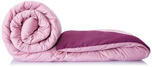 Solimo Microfibre Reversible Comforter, Double (Mellow Mauve & Royal Violet, 200 GSM)