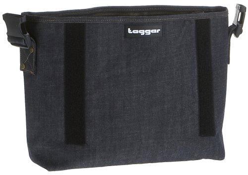 Tagger Crew RAW 5001-DENIM-1, Borsa messenger unisex adulto, 30x22x10 cm (L x A x P), Blu (Blau/DENIM 1), Taglia unica Blu (Blau/DENIM 1)