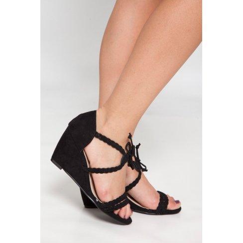 Princesse boutique - Sandales noire compensées Noir