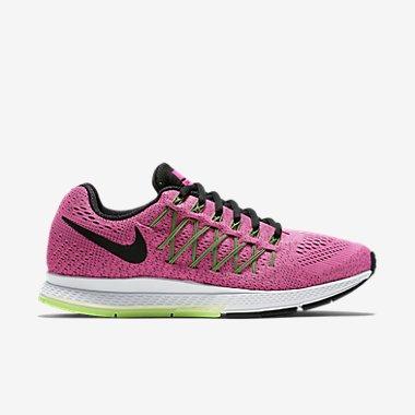 Nike W Air Zoom Pegasus 32W, Zapatillas de Running Mujer, Rosa (Pink Pow / Blk-Brly Vlt-Ghst Grn), 35 1/2 EU