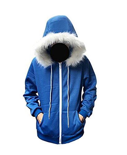 Blau Hoodie Jacke Kapuzenpullover Cosplay Kostüm (Blau, M) ()