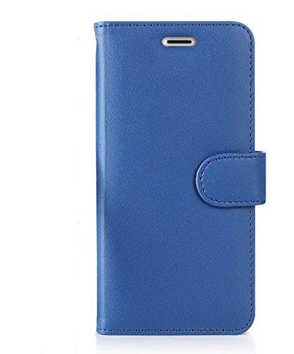 iPhone 7Plus, 8Plus Schutzhülle, RFID blockierende Geldbörse, iPhone 7Plus Wallet Schutzhülle mit Standfunktion Kreditkarte Displayschutzfolie (Royal Blau) (Iphone Reader Credit Case Card)