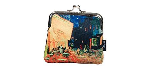 Fridolin Porte-Monnaie à Fermoir Clic Clac Van Gogh Café de Nuit, 10 cm, Multicolore