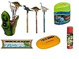 T-Rex World 6-TLG. Schulschreibset 14502 14270 12242 11141 14570 20921 Stifteköcher + Bleistift mit Topper + Doppelanspitzer + Linealset + Radierer + Klebestift