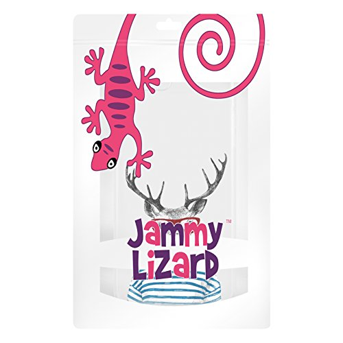 Cover iPhone 8 Plus Cover iPhone 7 Plus, JAMMYLIZARD [Sketch] Custodia in Silicone Trasparente Semi Morbido Ultra Slim con Disegno per Apple iPhone 8 Plus e Apple iPhone 7 Plus, CARTOON 7 CERVO HYPSTER