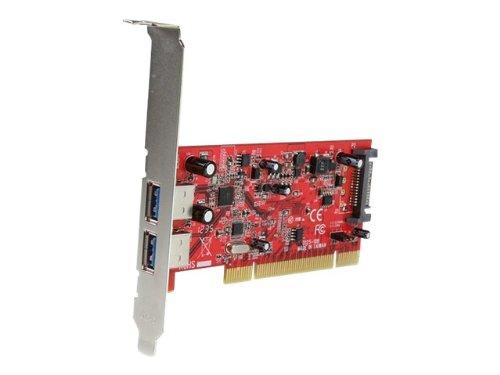 StarTech.com 2 Port USB 3.0 SuperSpeed PCI Schnittstellenkarte mit SATA-Stromanschluss - 2x USB 3.0 PCI Controller Karte