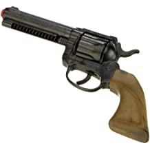 Gonher 120/6 - Révolver de vaquero (12 balas de largo alcance, 24 cm), color negro