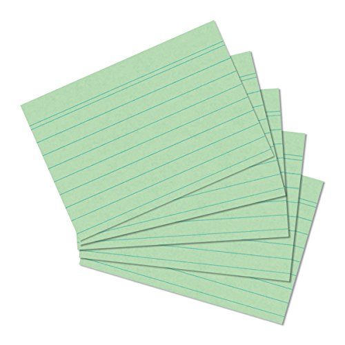 herlitz-1150507-schede-per-appunti-formato-a5-100-pezzi-bianco-a6-verde
