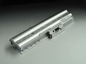 Original Pc Portable Laptop Battery pour Sony VAIO VGN-Z21WN/B VAIO VGN-Z21XN VAIO VGN-Z21ZN/X 10,8V(également pour 11.1V) 5400mAh Li-ion, Silver