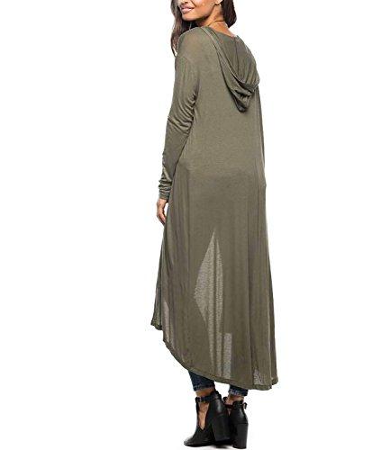 FStory Damen Strickjacke Gr.  Medium, grün (Gilet De Costume Noir Homme)