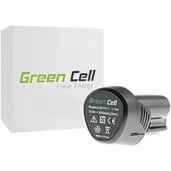 Green Cell Batterie pour Outillage électroportatif Bosch GRO 12V-35 (Panasonic Li-Ion cellules 2Ah 10.8V)