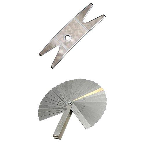 Chiave Multi Spanner Per Chitarra + 32 Calibro Spessimetro Set Luthier Tool