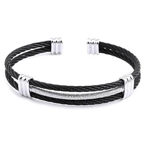 te Freundschaftsarmbänder Spring Wire Line Colorful Titanium Steel Bracelet Stretch Stainless Steel Cable Bangles for Women 81119 58-60mm ()