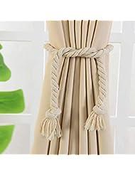 Gaddrt® 2Pcs 58cm Curtain Tieback Magnetic Curtain Hooks Rope Buckle Tie Backs Holdbacks for Living Room, Bed Room, Study Room, Bath Room Home Decor (D)