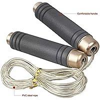 LridSu Cuerda de Alambre Ajustable del cojinete Que Salta Las manijas cómodas de la Espuma Que saltan la Cuerda para el Entrenamiento y el Entrenamiento de la Aptitud (tamaño : Length2.8m)