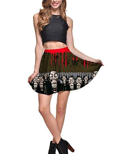 mujer-chicas-impreso-patron-minifalda-verano-plisada-midi-falda-estampado