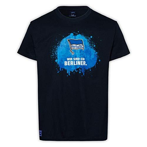 Hertha BSC Berlin Wir sind ein Berliner T-Shirt (S, Schwa)