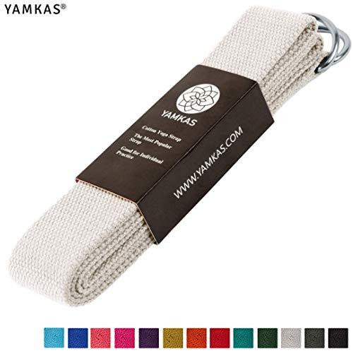 Yamkas Yoga Gurt 100{e4ae98abd5406ce24bb7d1d3f444805e1e2283899b6413a6de67b131881abd34} Bio Baumwolle mit Verschluss, yogagurt 183cm / 300cm lang