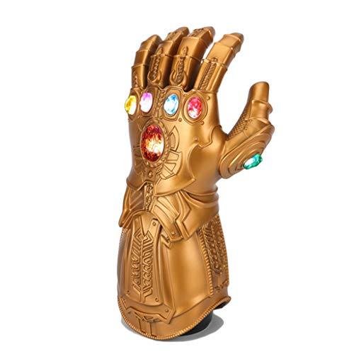 Yujingc Thanos Handschuhe mit LED Gauntlet Infinity Glove für Halloween Party Zubehör Cosplay Requisiten Show Ausstellung Sammlung Erwachsene und - Batman Kostüm Sammlung