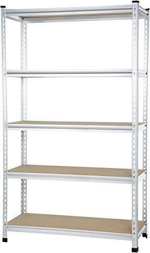 AmazonBasics - Standregal für mittelschwere Gegenstände, Doppel-Stangen, Spanplatten, 121 x 45 x 182 cm