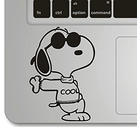 Vati Leaves Removable Snoopy Cool Humor Handmade Partial Art Skin Cool Design Vinyl Decal Sticker for Trackpad Keypad Of Apple Macbook Pro Air Mac